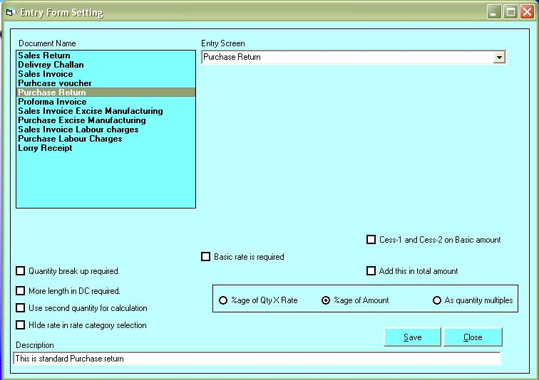 then click on proforma invoice and in entry screen select proforma invoice then save